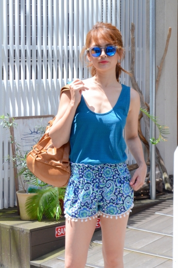 CHACH paisley design short pants