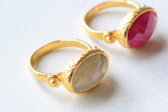 Rue Belle design natural stone ring