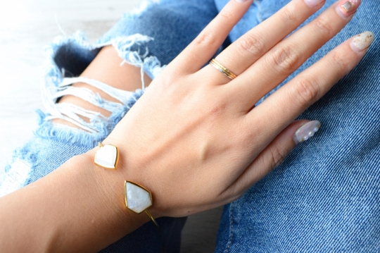 Rue Belle natural stone bangle