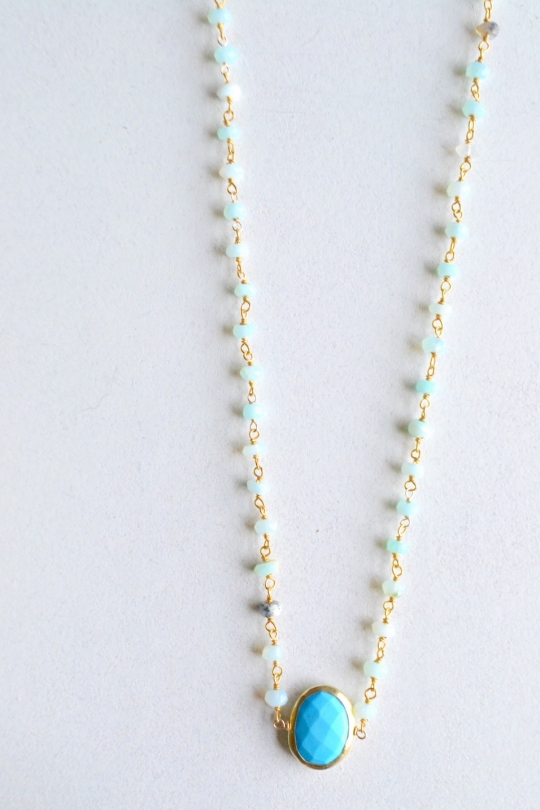 RueBelle Peruvian opal ×turquoise necklace