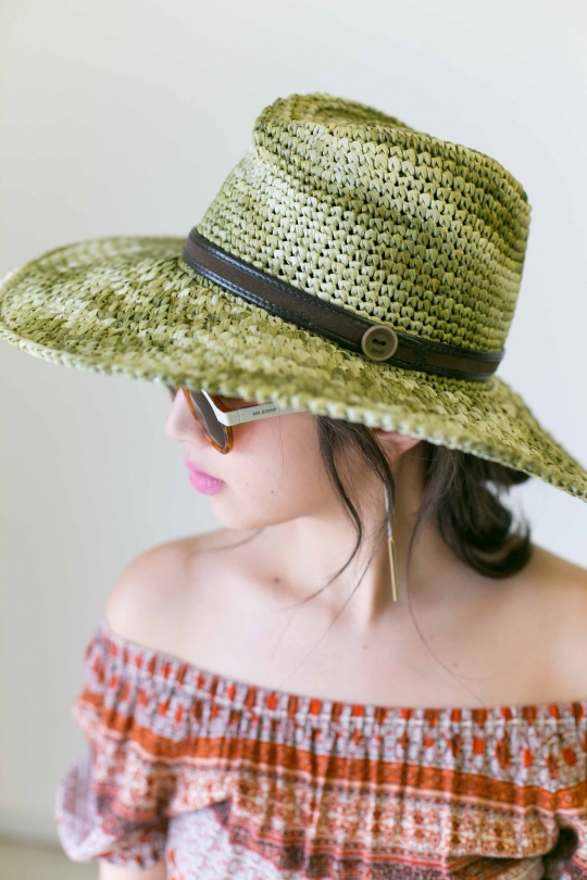 CATARZI Button mix color Hat
