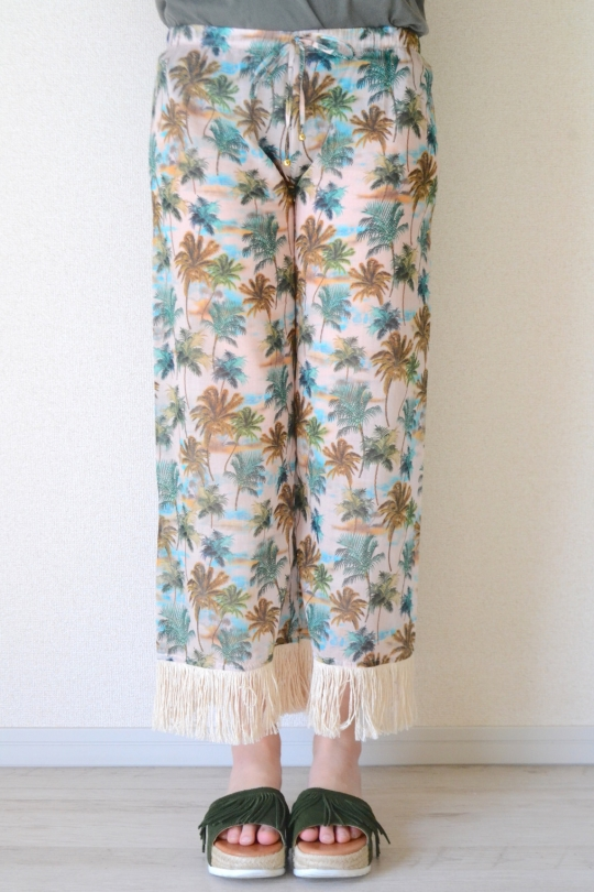 DELFINA palm tree wide pants