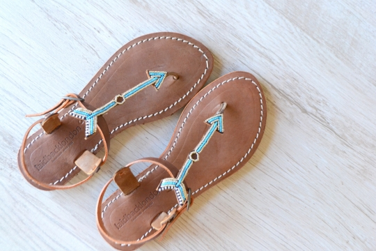 Laidback london  leather thong sandals