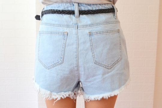UNIQ denim × flower short pts