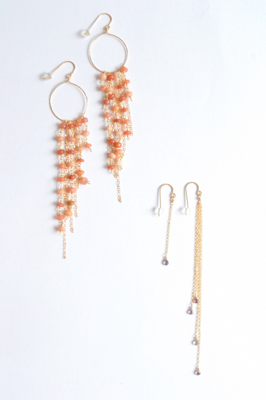 Rue Belle natural stone fringe earring