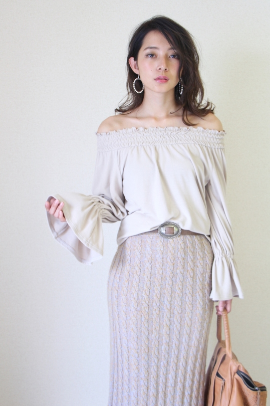 LaLaLei LUX-WARM Premium off-shoulder beige