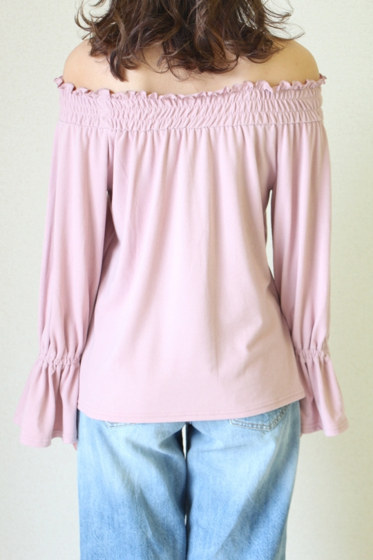 LaLaLei LUX-WARM Premium off-shoulder pink