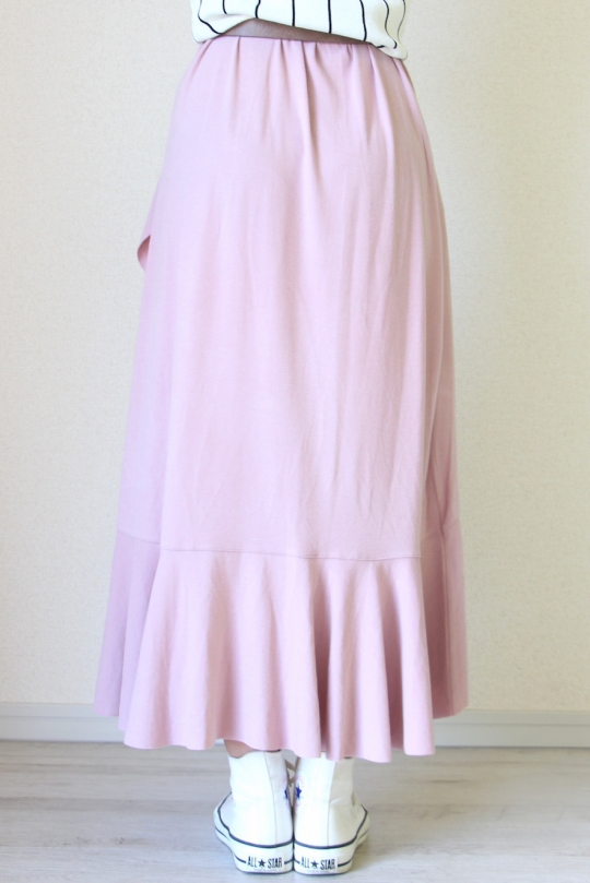 LaLaLei LUX-WARM Premium frill maxi SK pink