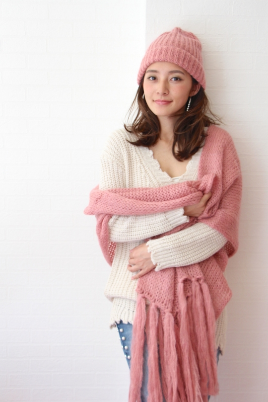 KONTATTO pink knit cap