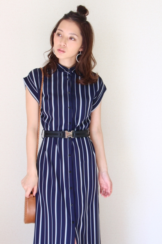 IMPERIAL stripe navy dress