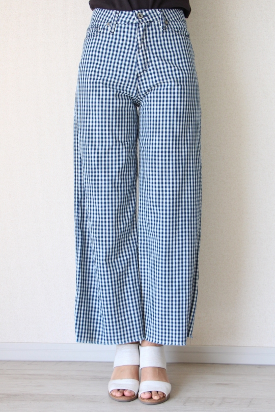 Please gingham check wide pts