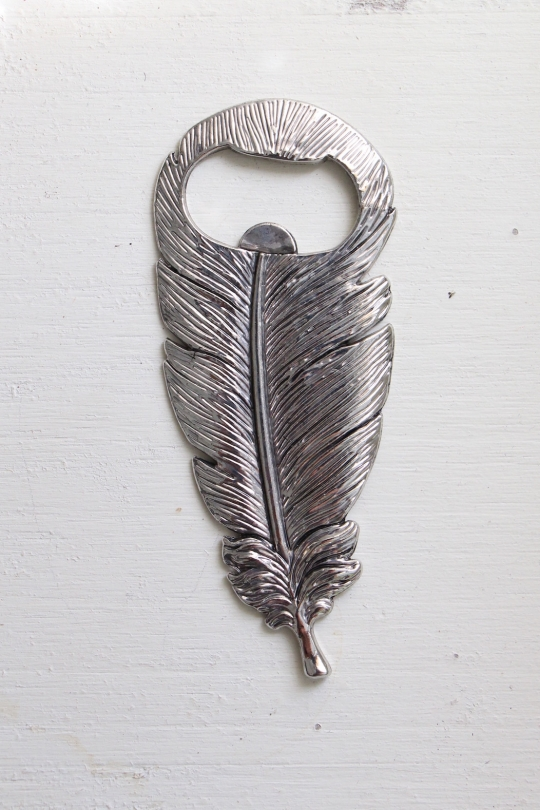 TWO'S feather design bottle opener