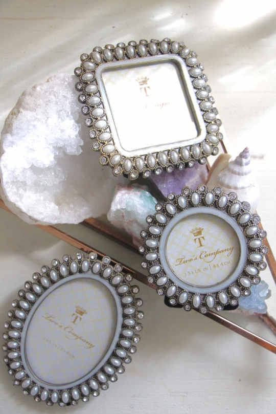 TWO'S silver×pearl small photo frame