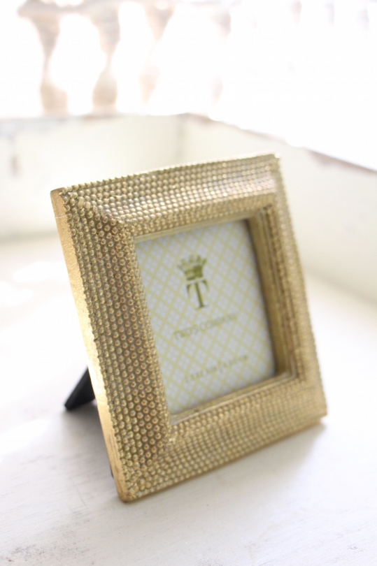 TWO'S gold small photo frame
