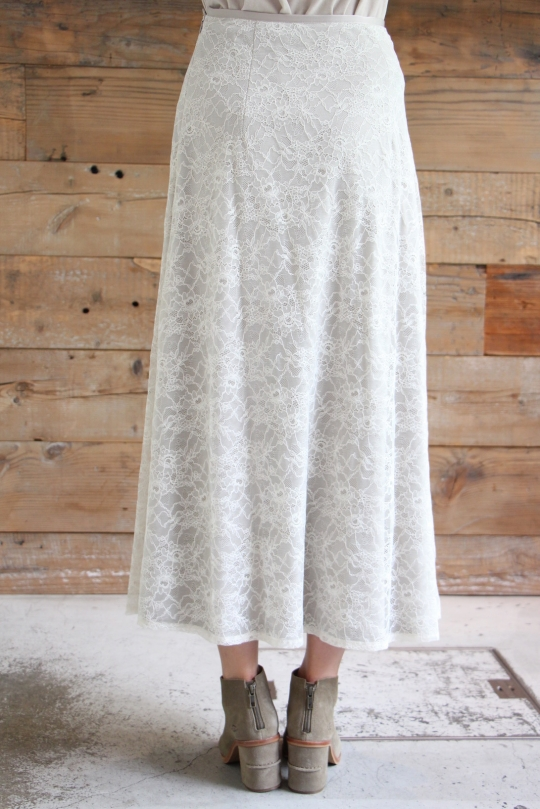 LaLaLei lace flare white SK