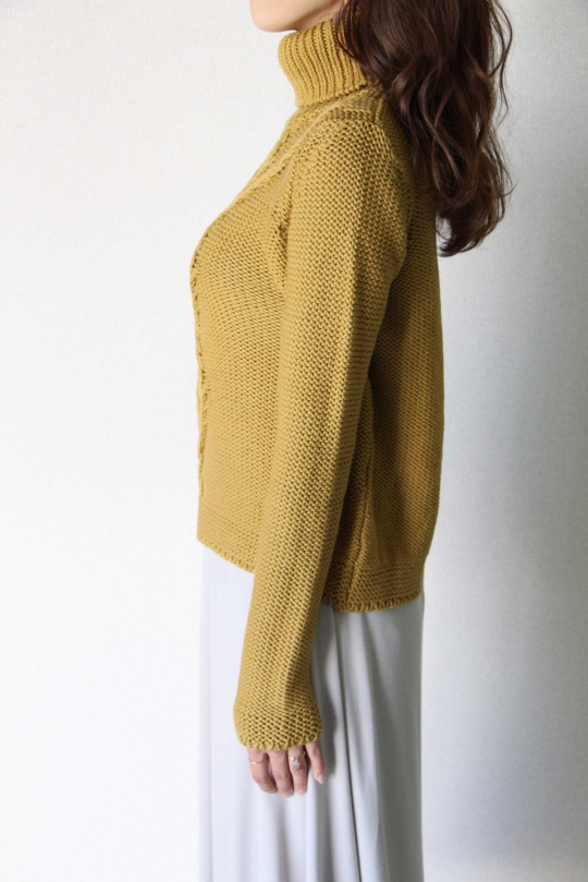 roberto collina yellow turtle knit