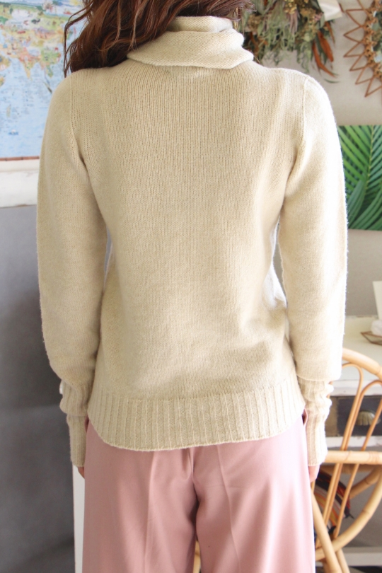 roberto collina beige turtle knit tops