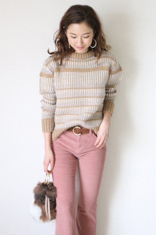 RITA ROW mulch border camel knit