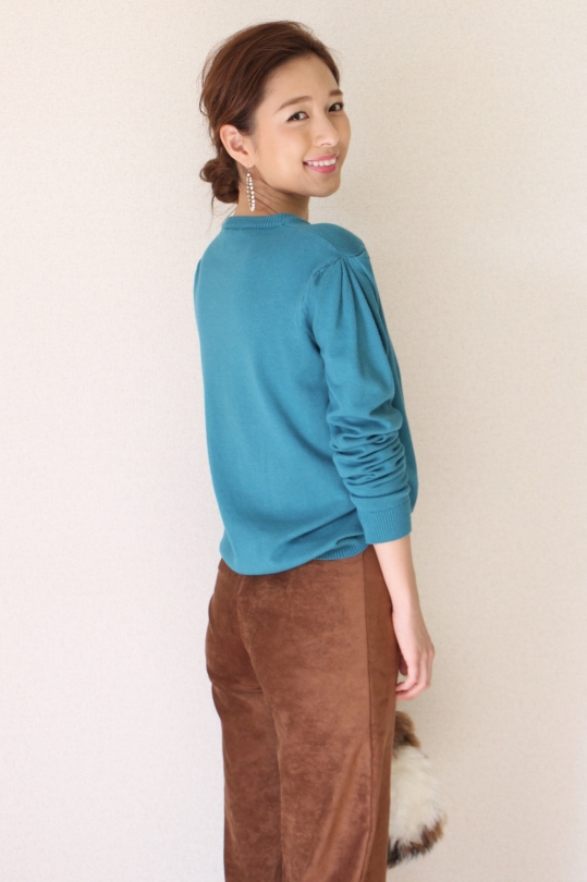 Dixie turquoise knit