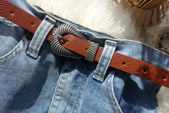 Joia silver buckle belt