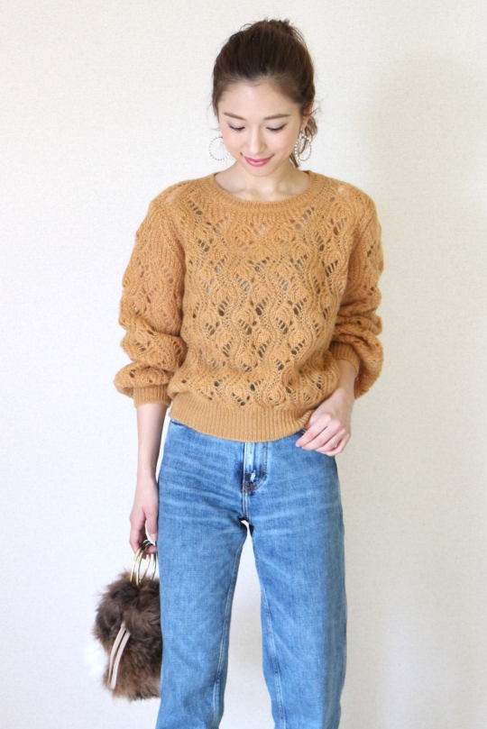 NORTHLAND yellow knit tops