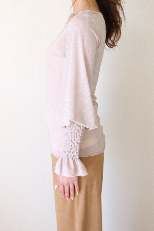 susy mix glitter pink knit
