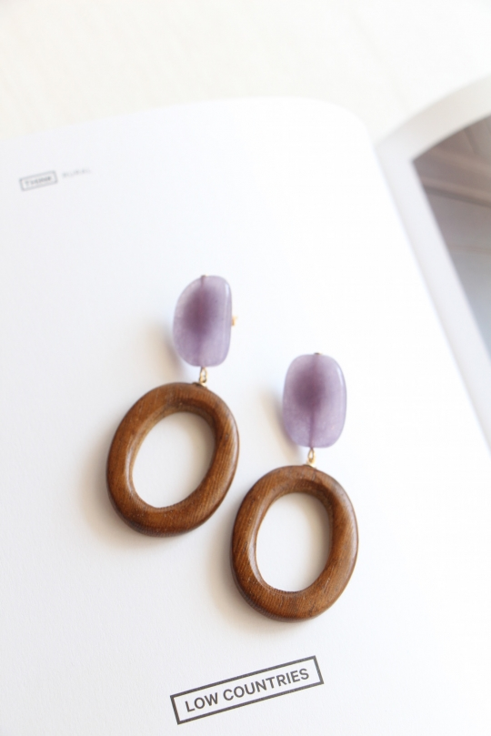 Joia hoop design earrings