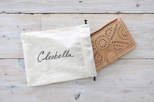 cleobella leather wallet clutch