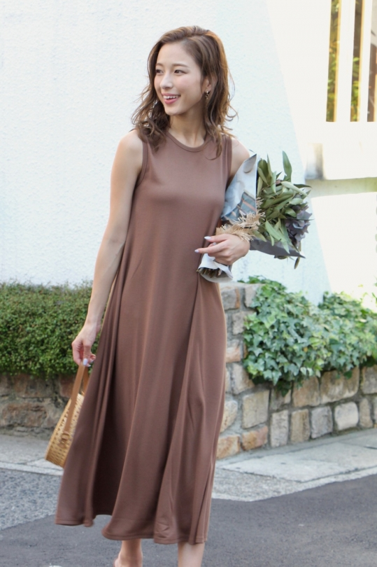 LaLaLei simple summer dress/ brown