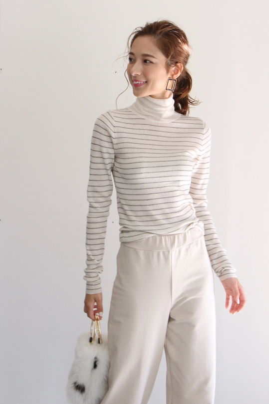 ALYSI border turtle knit
