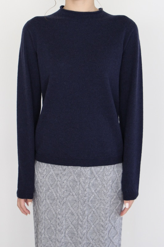 indi&cold high-neck Virgin wool knit