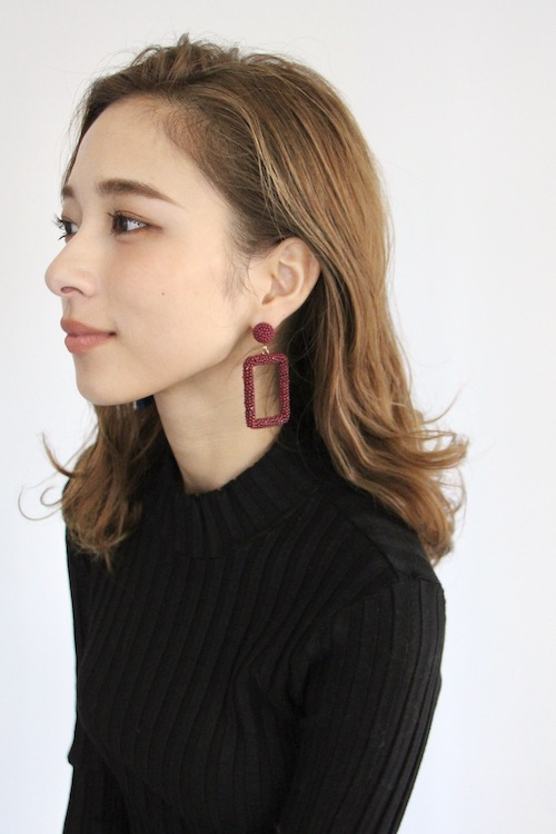 Joia □×beads earrings