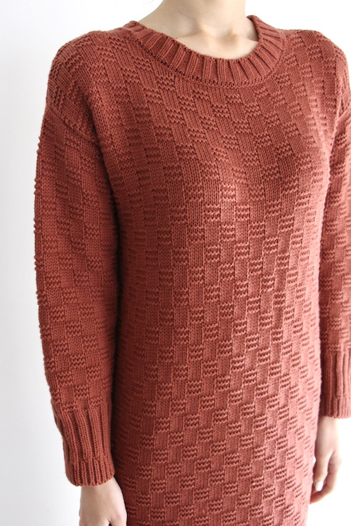 RITA ROW knit long terracotta dress