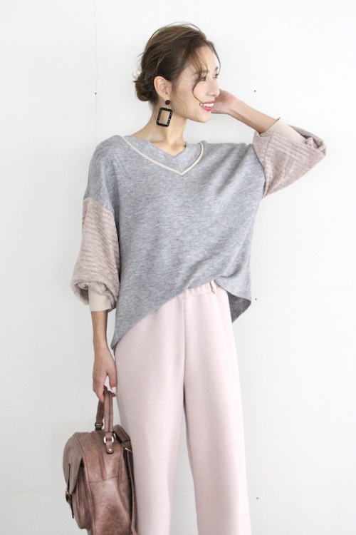 THML pink velour sleeves tops