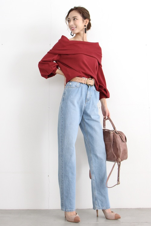 MUD JEANS high-waist straight denim pts