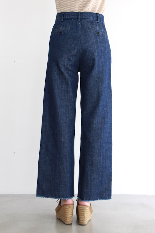 Leon&Harper High-waist  indigo denim