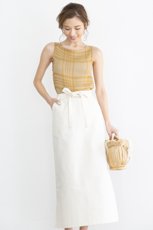 mila.vert organic cotton white skirt