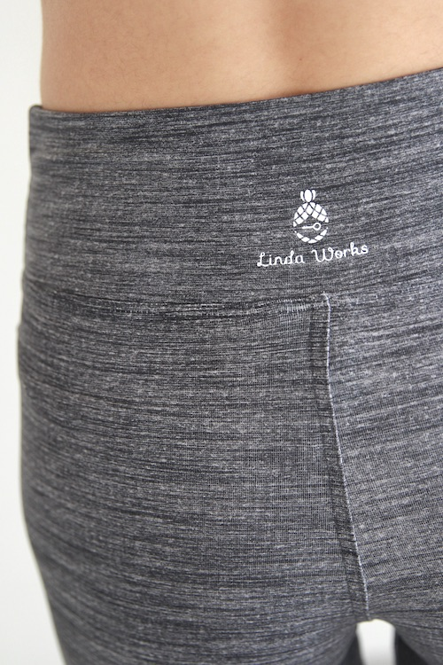 Linda Works yoga leggings gray