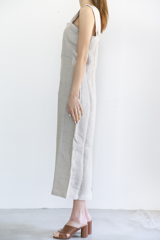 RITA ROW linen sleeveless beige OP