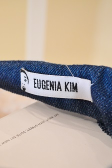 EUGENIA KIM Denim Ribbon headband