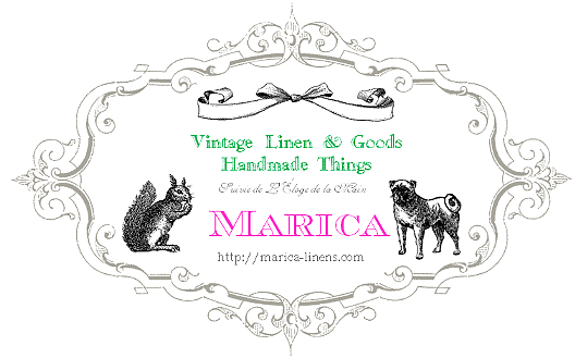 Marica Design&Vintage マリカ・デザイン&ヴィンテージ ★ヴィンテージリネン ★バッグ&アクセサリー ★ドレス&グッズ