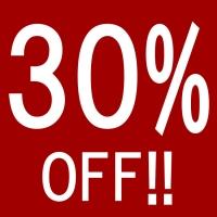 30%OFF!!