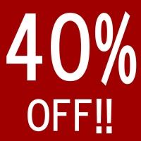 40%OFF!!