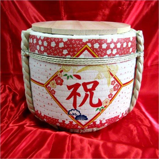 鏡開き用飾り樽ステンレス桶付樽|国内及び海外へ通信販売 - 樽吉枡子