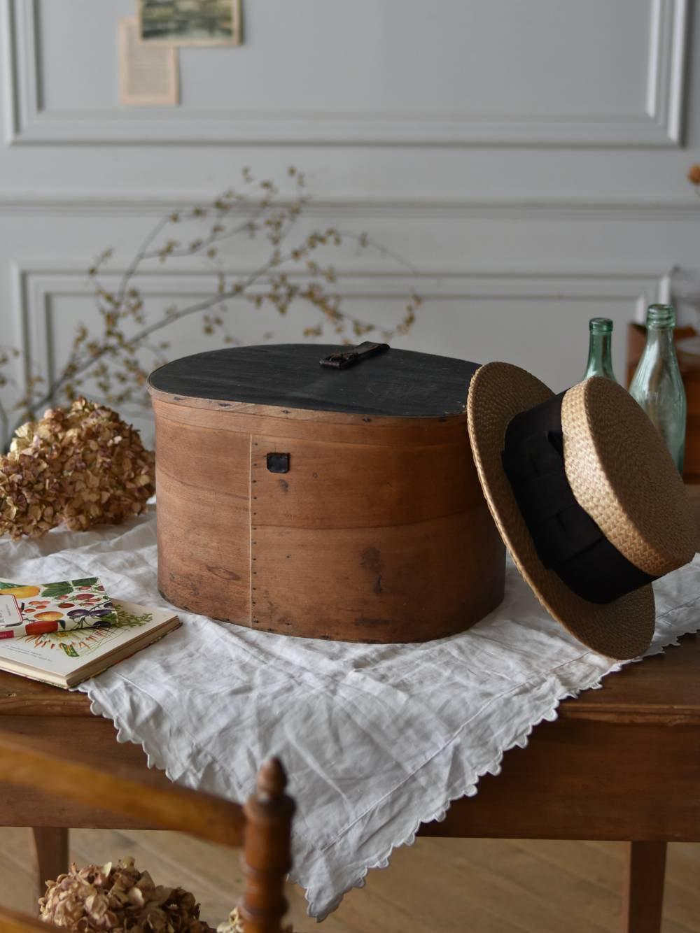 木製ハットボックス