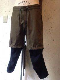 civilized(シヴィライズド) VENTILE×CIRCULAR RIB サバイバル レイヤード パンツ (KHAKI×BLACK)