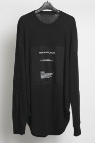 予約商品 JULIUS(ユリウス) COTTON NEP CREAP  Patch Long Sleeve T-shirt Ver.2 (BLACK/ARMY GREEN/BORDEAUX)