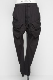 予約商品 JULIUS(ユリウス) CO WEATHER×CO SWEAT COMBINATION GASMASK CARGO PANTS (BLACK)