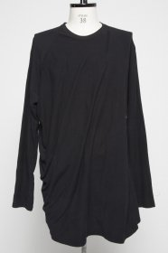 予約商品 JULIUS(ユリウス) COTTON JACQUARD JERSEY DRAPING CUT&SEWN (BLACK)