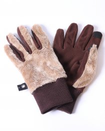 予約商品 wjk(ダブルジェイケイ) boa fleece glove  (BEIGE/KHAKI/BLACK)